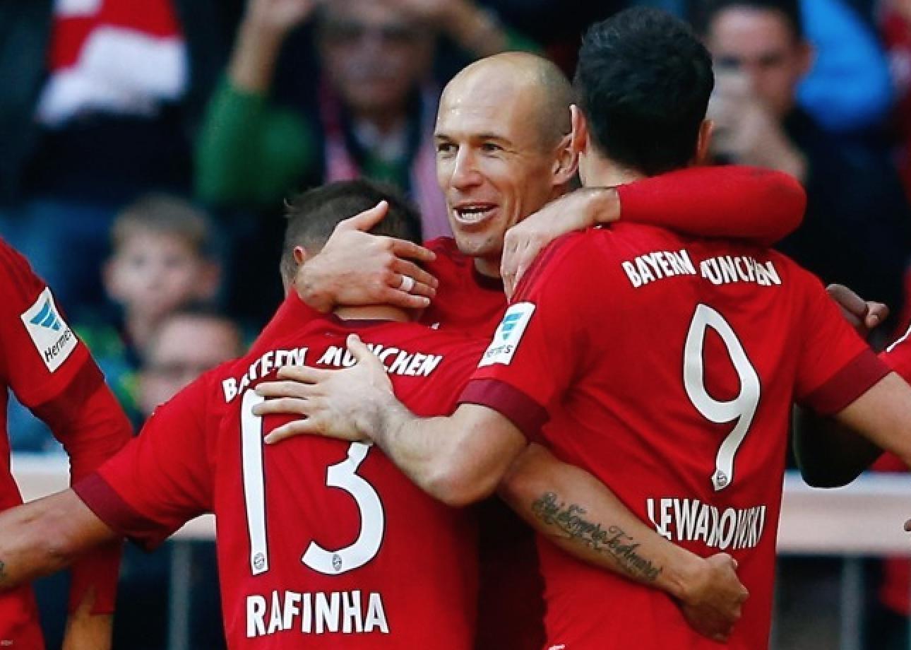 罗本复出破门莱万穆勒建功 拜仁4-0科隆