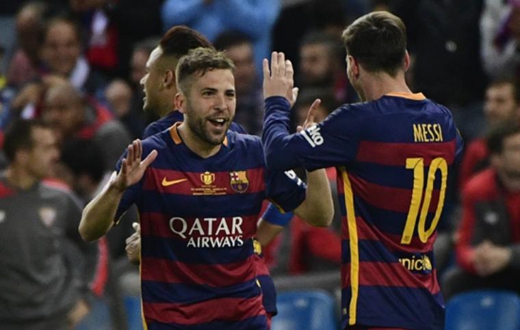 内马尔破门梅西两助攻 巴萨2-0塞维利亚夺国王杯
