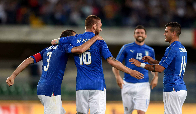 [全场精华]热身赛-坎德雷瓦传射德罗西破门 意大利2-0力克芬兰
