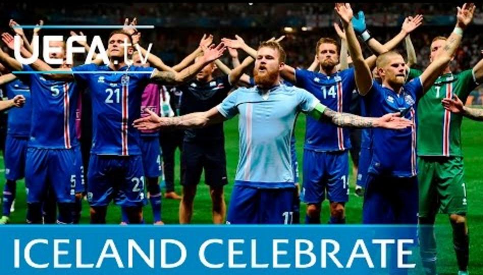 超级震撼!万名冰岛球迷赛后高唱战歌庆祝
