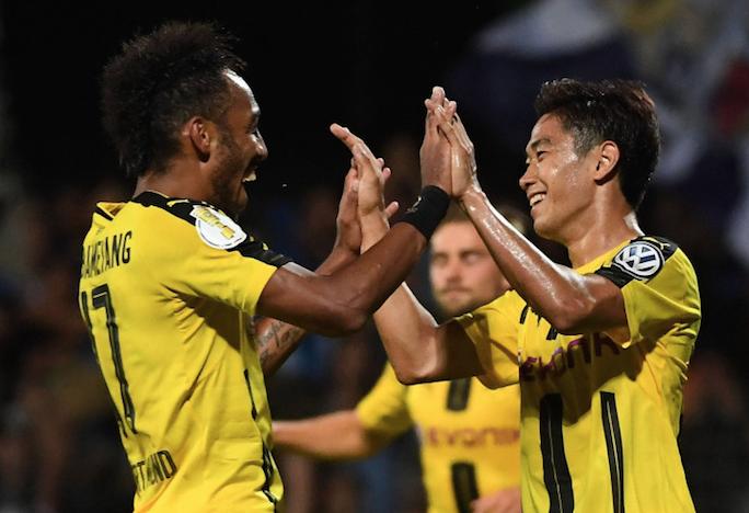 德国杯:香川双响许尔勒破门 多特3-0晋级
