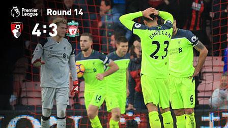 阿克补时绝杀 伯恩茅斯连扳三球4-3逆转利物浦