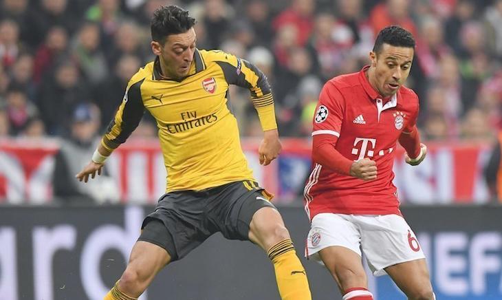 罗本莱万穆勒破门蒂亚戈双响 拜仁5-1大胜阿森纳
