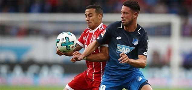 乌特两球J罗迎首秀 拜仁0-2霍芬海姆