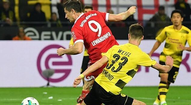 拜仁3-1完胜多特 罗本莱万双双建功