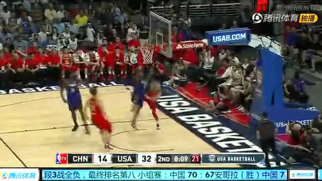 位置随时换!小乔丹一条龙助攻洛瑞上篮2+1(中国vs美国)