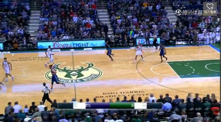 10月27日NBA常规赛 雄鹿vs黄蜂 第二节 录像