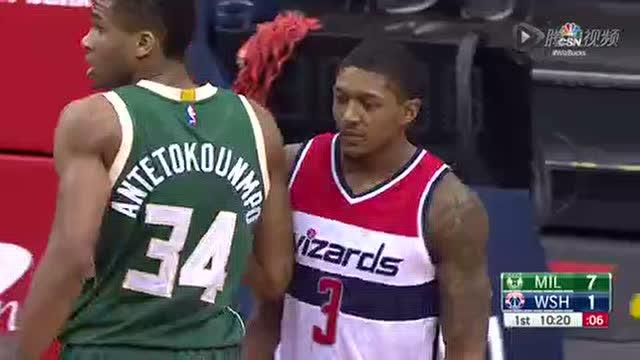 12月27日NBA常规赛 雄鹿vs奇才 第一节 录像