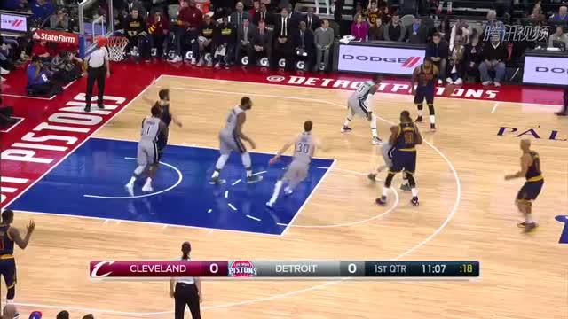 12月27日NBA常规赛 骑士vs活塞 第一节 录像