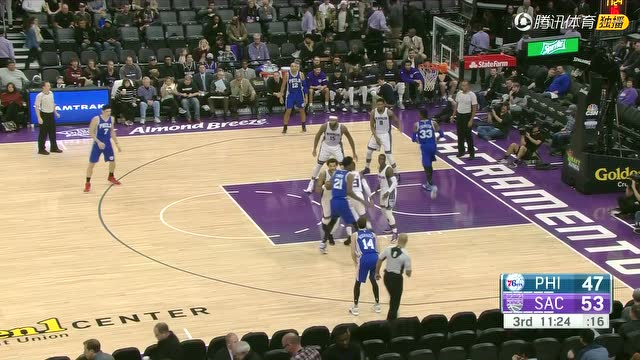 12月27日NBA常规赛 76人vs国王 第三节 录像