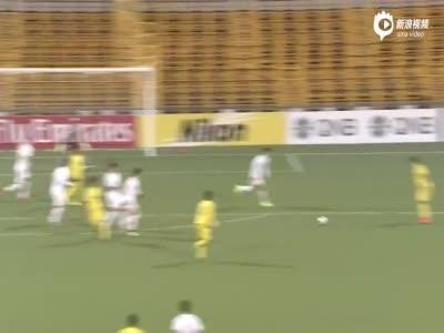 进球视频-鲁能补时防线漏人 惨遭头球绝杀