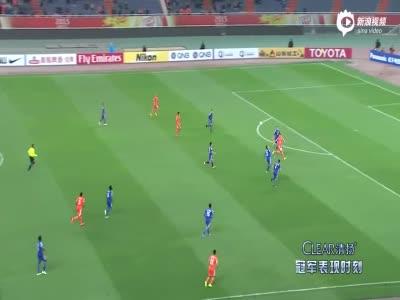 视频集锦-塔尔德利2助攻杨旭造2球 鲁能3比1逆转