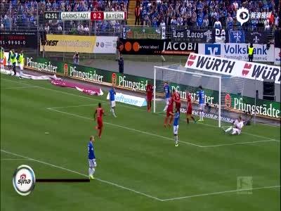 比达尔轰世界波 拜仁客场3-0达姆施塔特