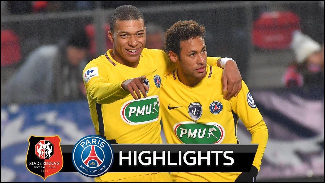 [10分钟集锦]法国杯-内马尔姆巴佩天使各2球 巴黎6-1大胜晋级